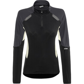 UYN Evolutyon Half Zip Second Layer Women, black/charcoal/off white